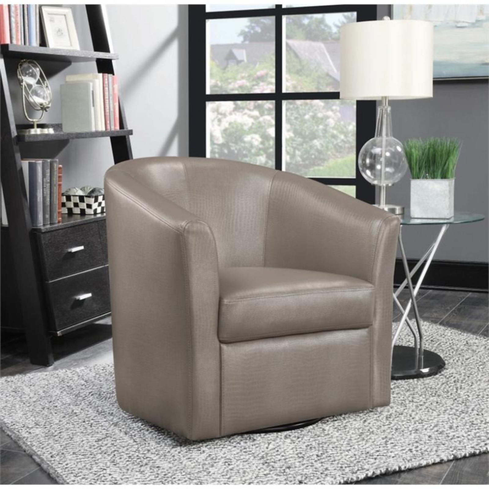 Coaster Faux Leather Upholstered Accent Chair  Sears