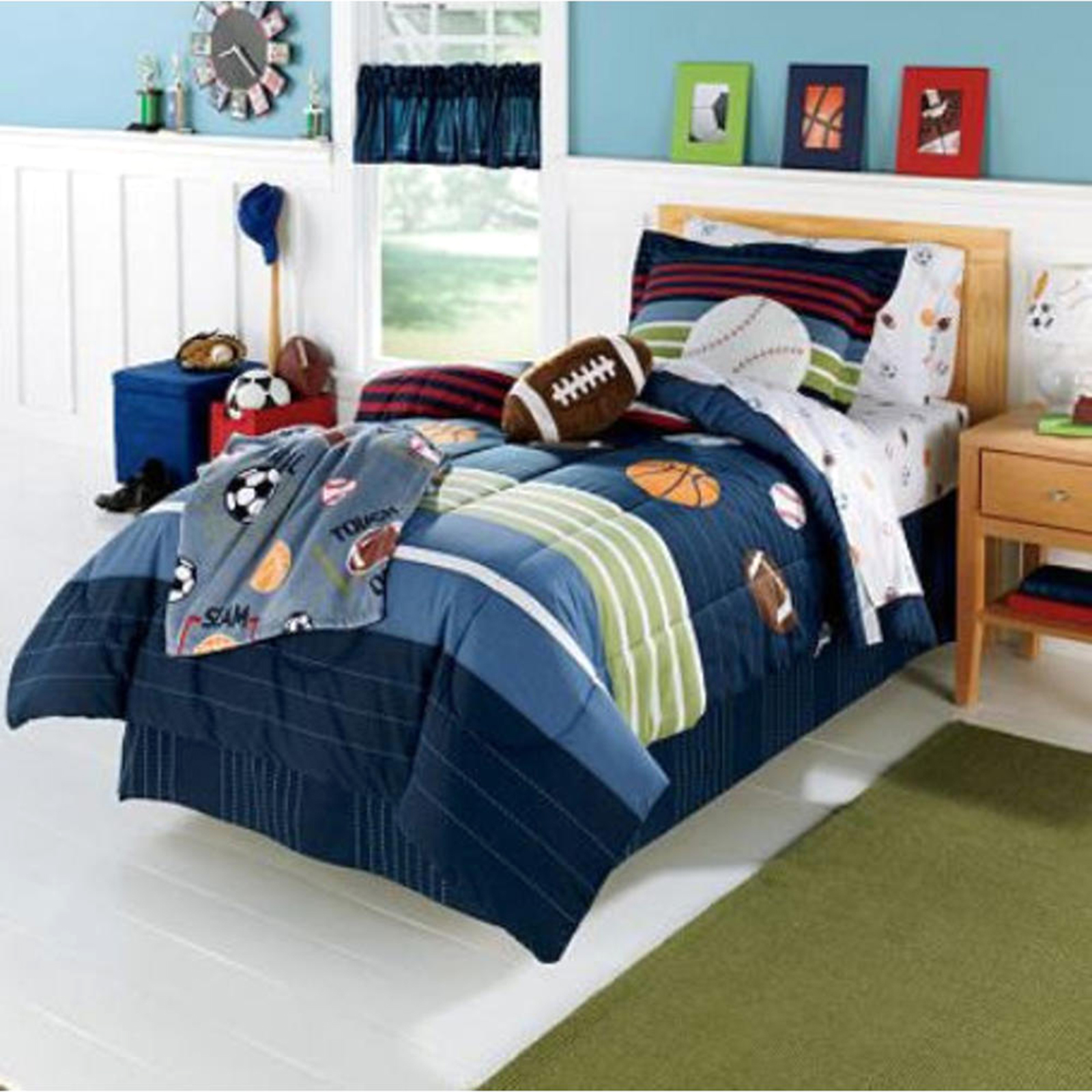 Kids Bedding Mvp Sports Boys Twin Comforter Set - Sears Marketplace