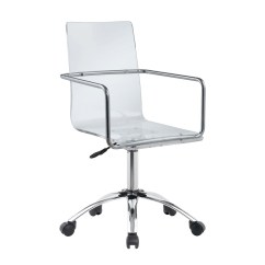Chair On Wheels Blue Recliner Clear Acrylic Chairs Coaster Office In