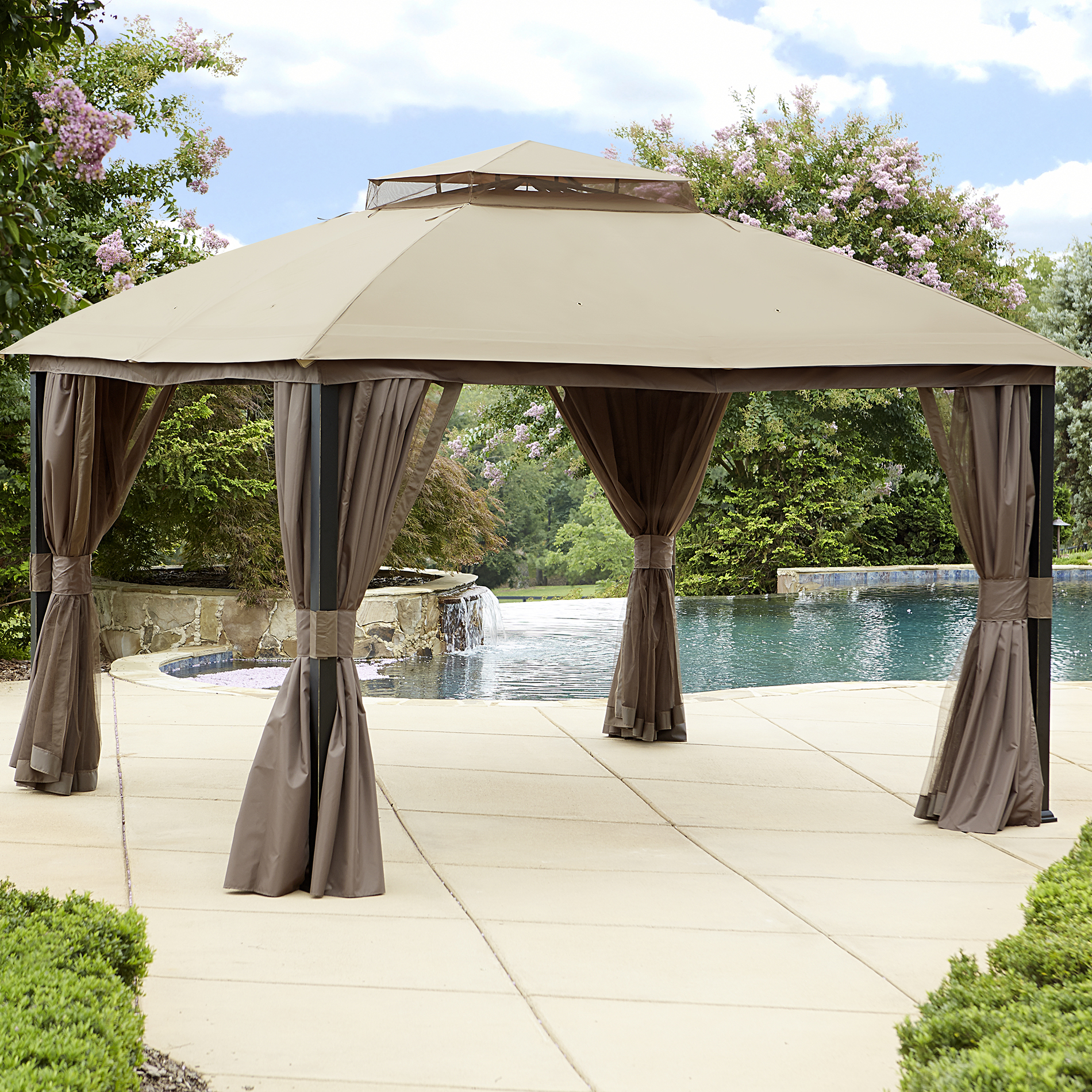 Garden Oasis 10' X 12' Privacy Gazebo With Mosquito Netting