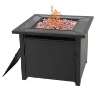 """Garden Oasis Back Painted 32"""" Fire Pit"""