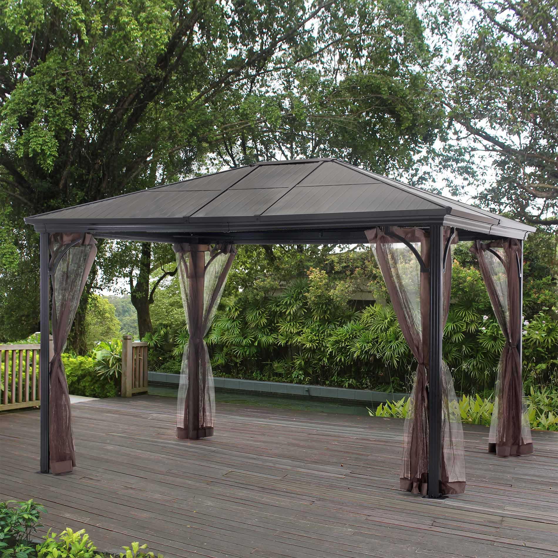 Grand Resort Sunland Park 12x10 Steel Roof Gazebo With