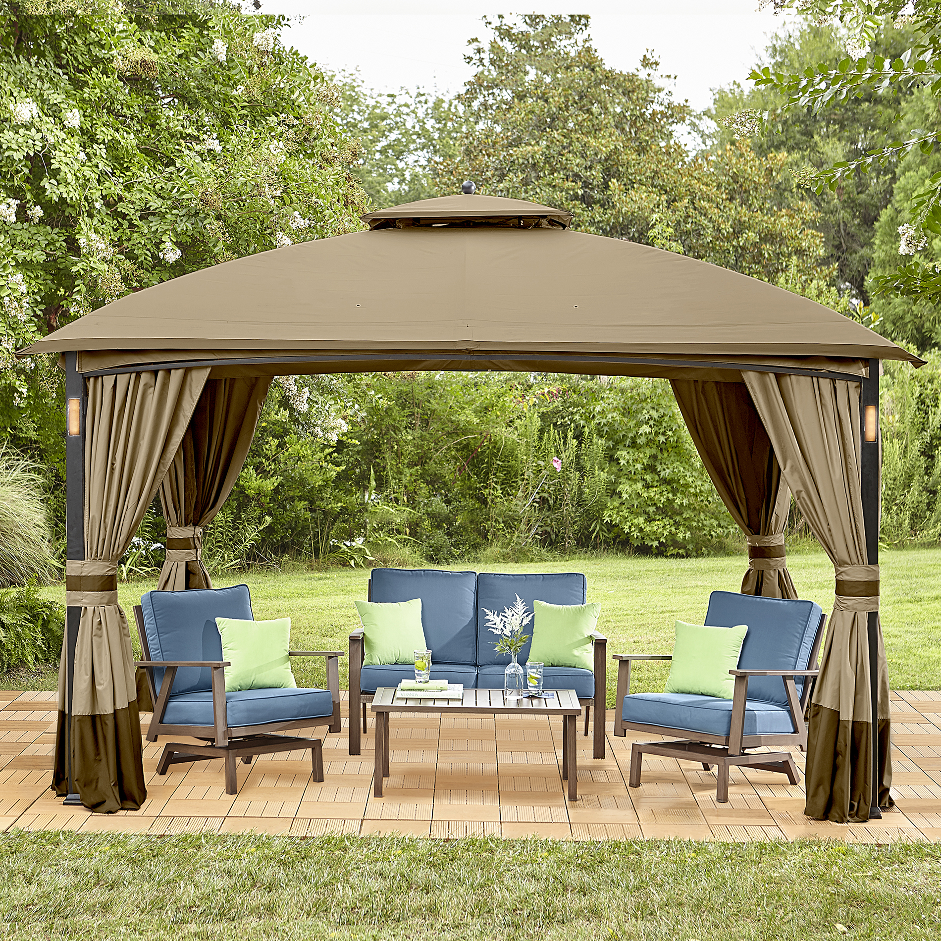 Garden Oasis Moorehead Music And Lighted Gazebo With