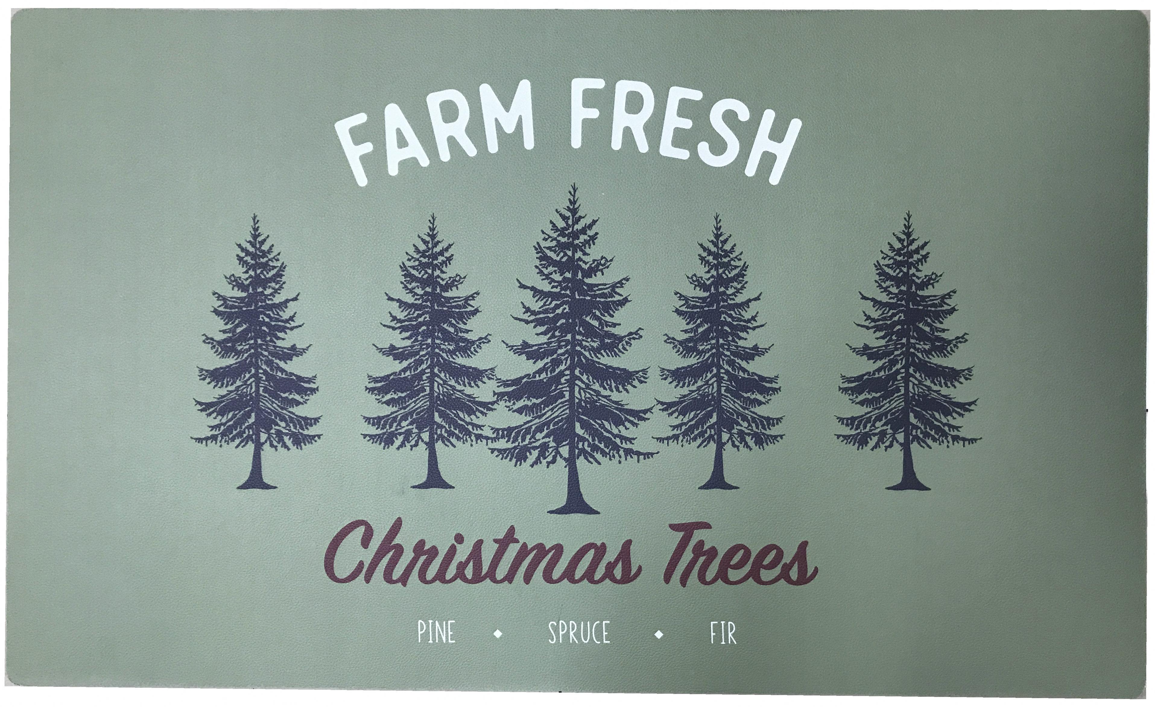 Trim A Home Christmas Tree Kitchen Rug