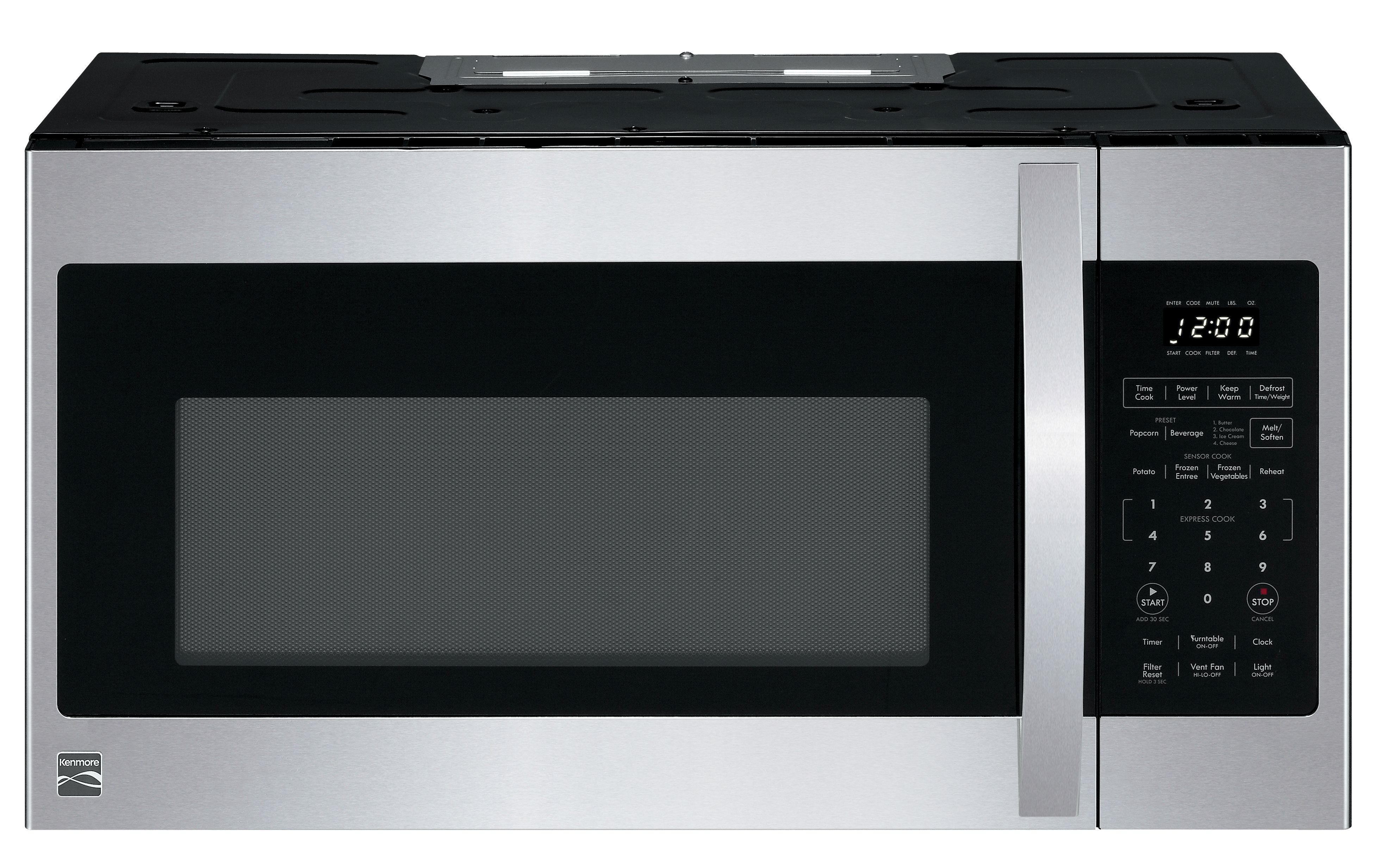 kenmore elite 87587 2 2 cu ft over the range microwave oven black stainless