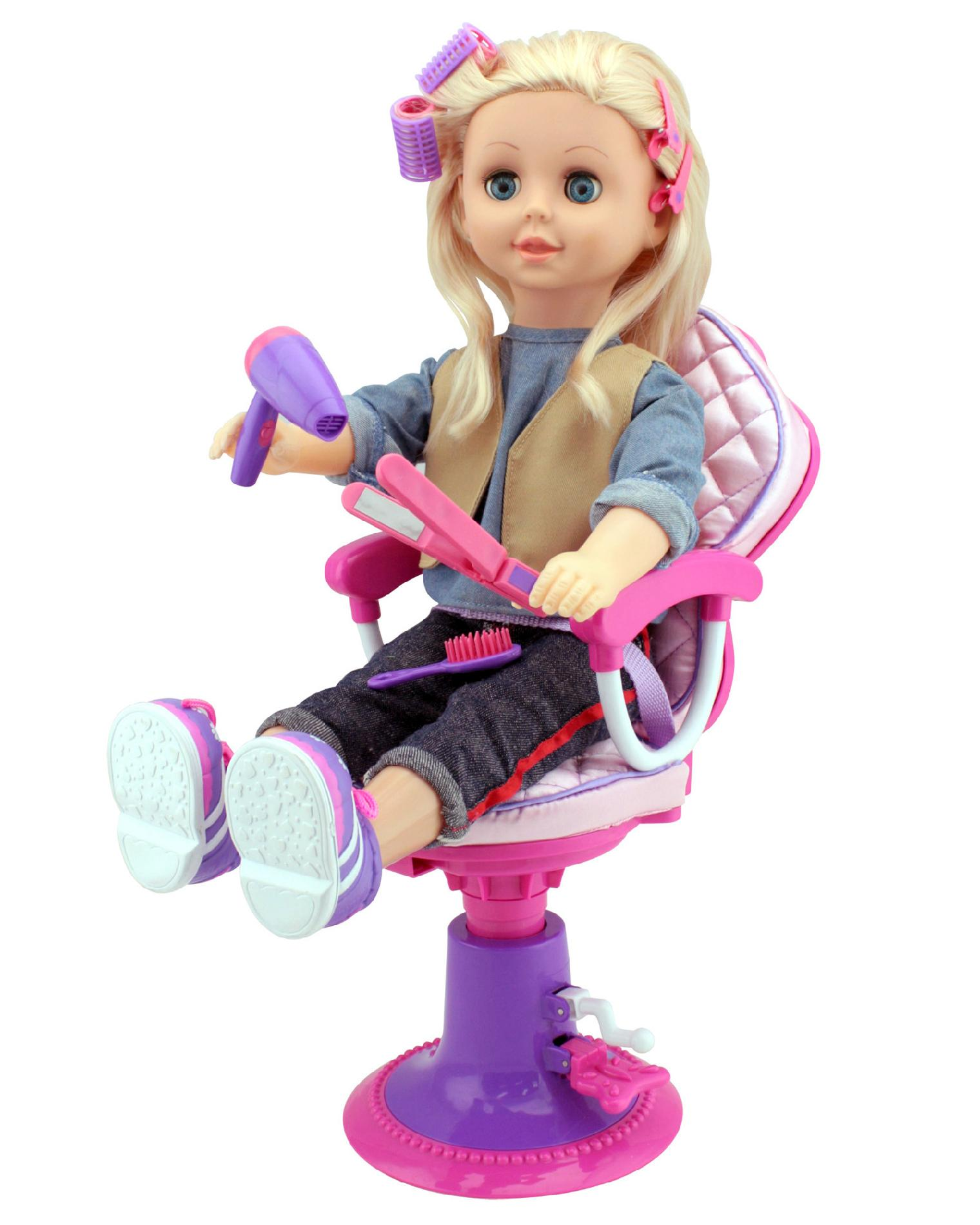 doll salon chair pink royal throne 18 w accessories 2
