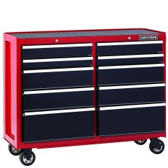 Replacement Kitchen Drawer Box Flooring Types Craftsman 52 Inch 10 Heavy Duty Rolling Cart Red