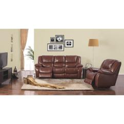 2 Piece Brown Leather Sofa How To Decorate Table Dorel Home Furnishings Space Saving