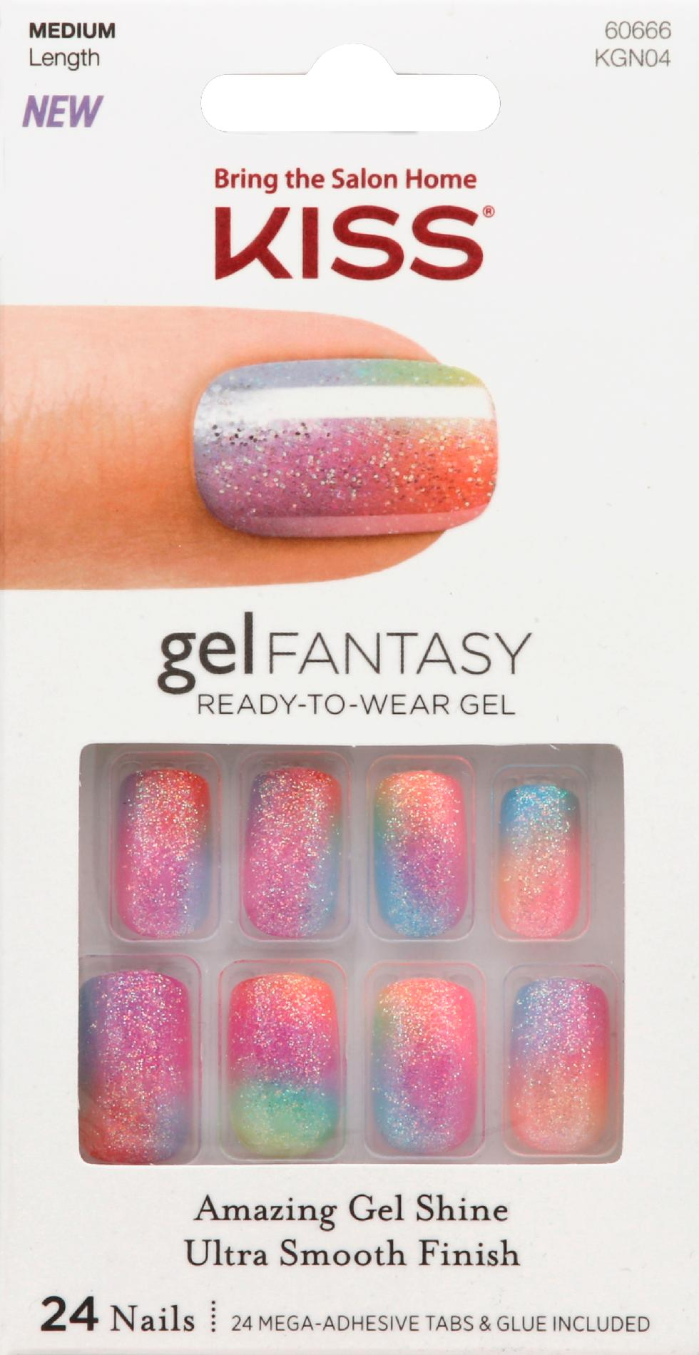 Kiss Gel Fantasy Nails Charmed Life 24 Ct