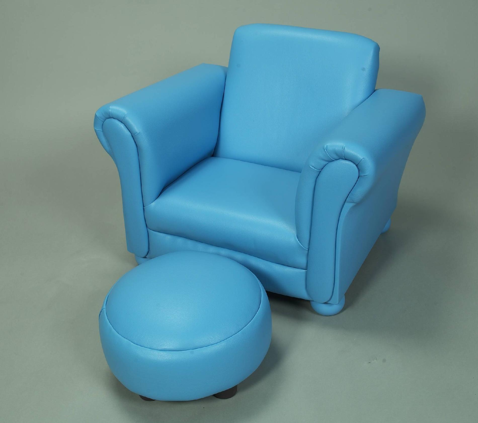 chairs and ottomans upholstered revolving chair daraz gift mark 6705b child s with ottoman in blue
