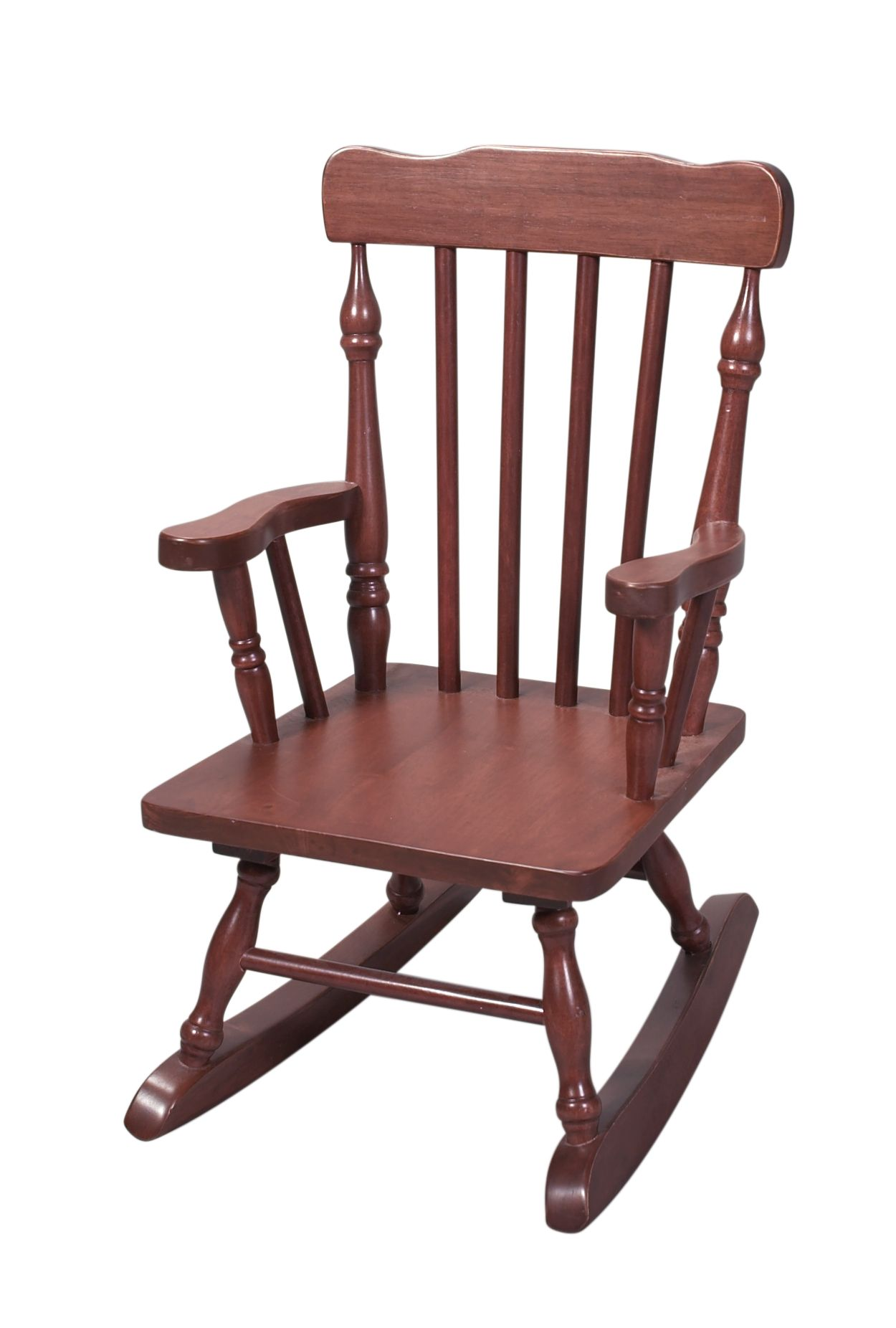 child rocking chair outdoor plant stand wicker giftmark 39s spindle in cherry sears