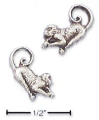 Sterling Silver Monkey Post Earrings (Left and Right)