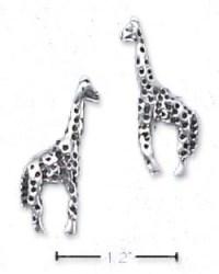 Sterling Silver Giraffe Post Earrings