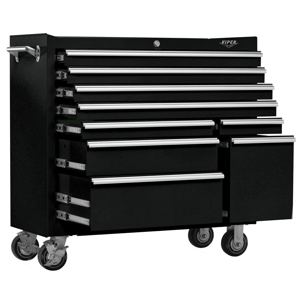 41inch 9drawer 18G Steel Rolling Cabinet Black Tool