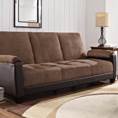Sofa Bed Dallas Gus Cleaning Dorel Home Furnishings Premium Two Tone Brown Futon