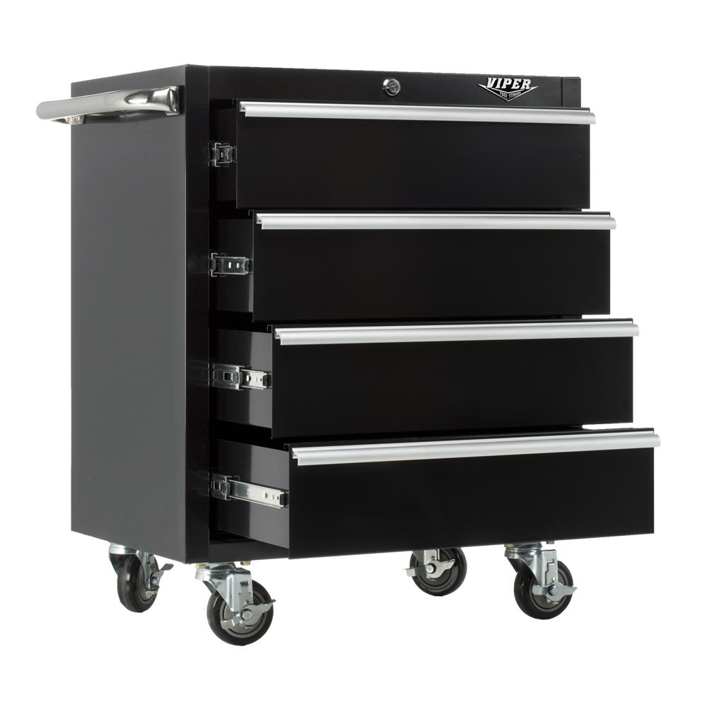 Viper Tool Storage 26- 4 Drawer 18g Steel Rolling
