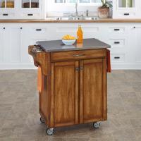 Home Styles Create-A-Cart Cuisine Cart - Cottage Oak ...