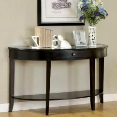 Half Moon Sofa Table Macy S Elliot Furniture Of America Bay Dark Walnut