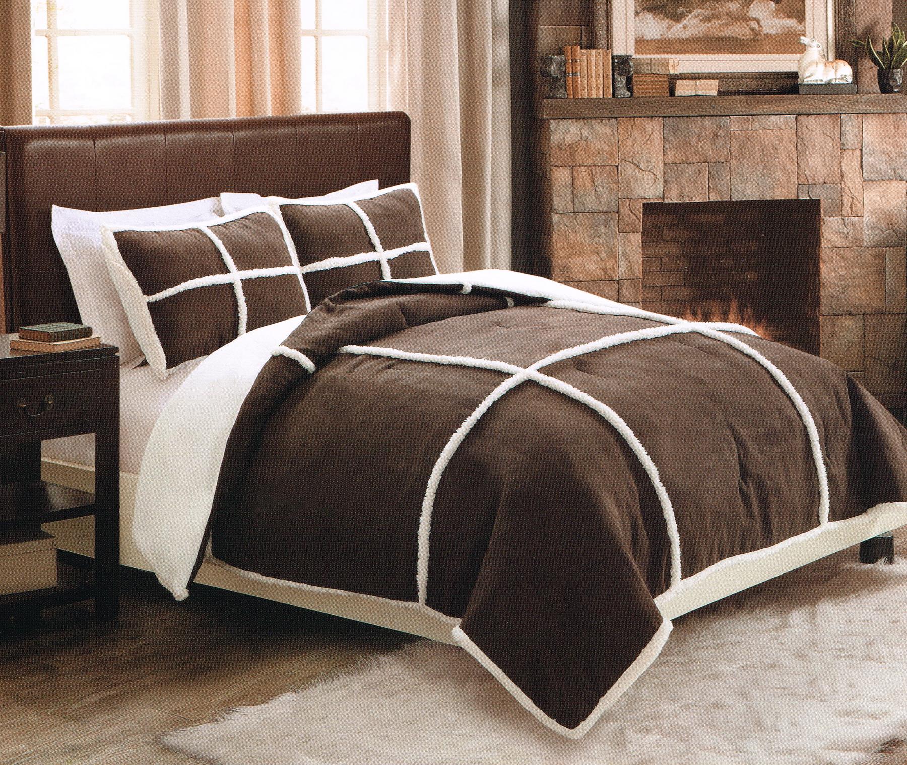 Seasons Microsuede Sherpa Comforter Set with Shams