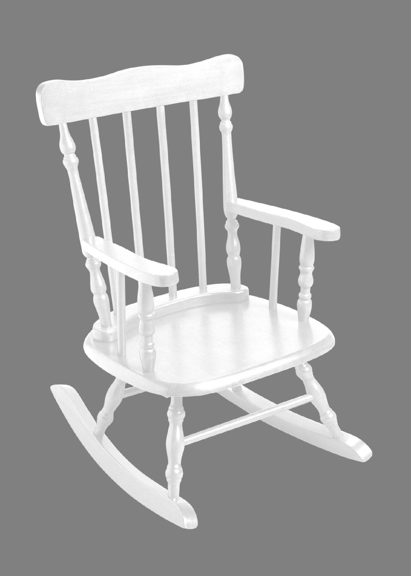 Rocking Chair White Giftmark 3700w Child 39s Rocking Chair White Sears