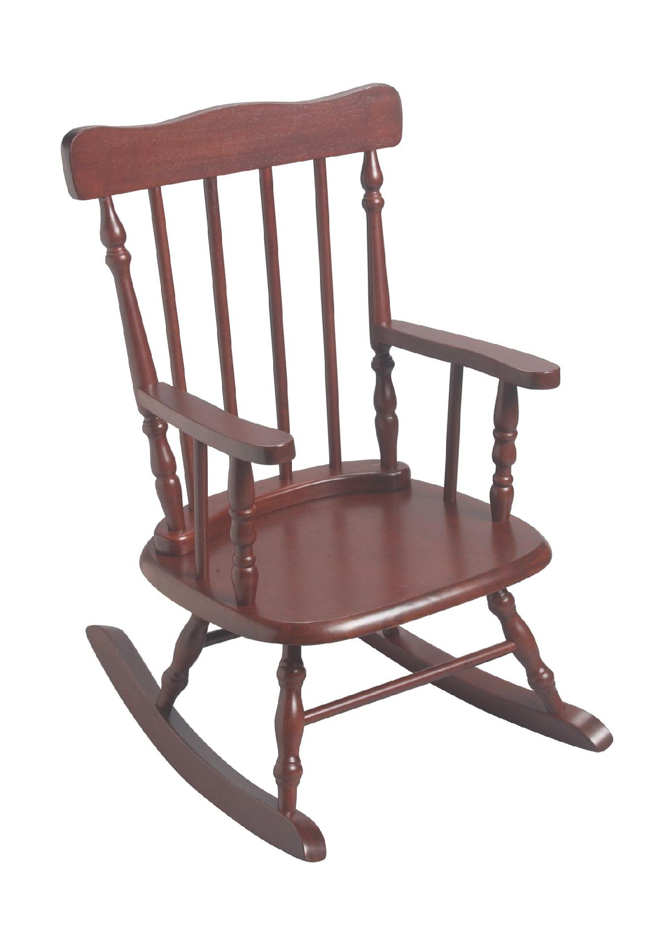 child rocking chair outdoor leather covers giftmark 39s spindle in cherry sears