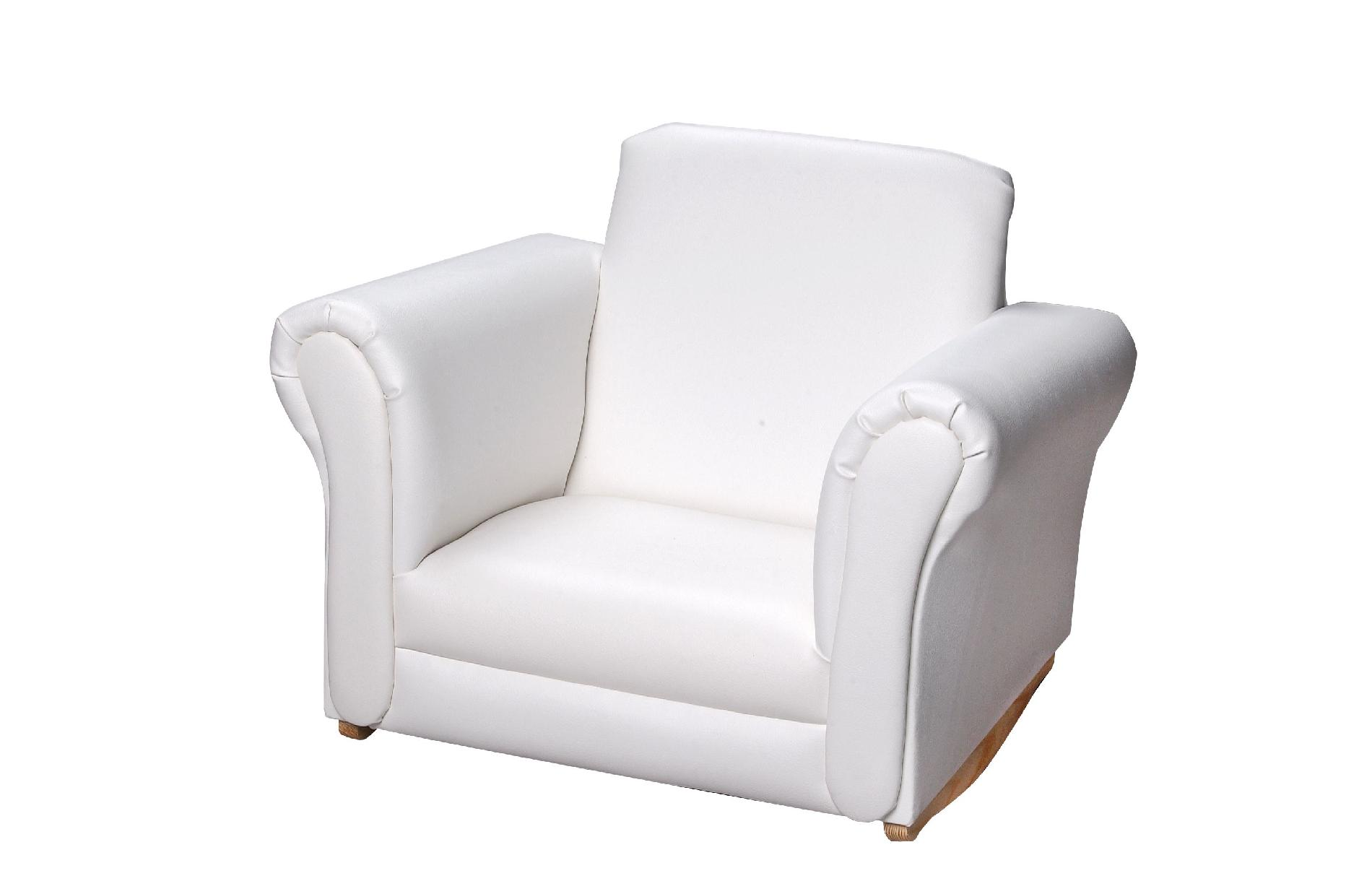 white upholstered rocking chair wooden high chairs for babies giftmark 6725w sears