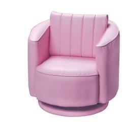 Pink Swivel Chair Childrens Office Gift Mark 6750p Upholstered