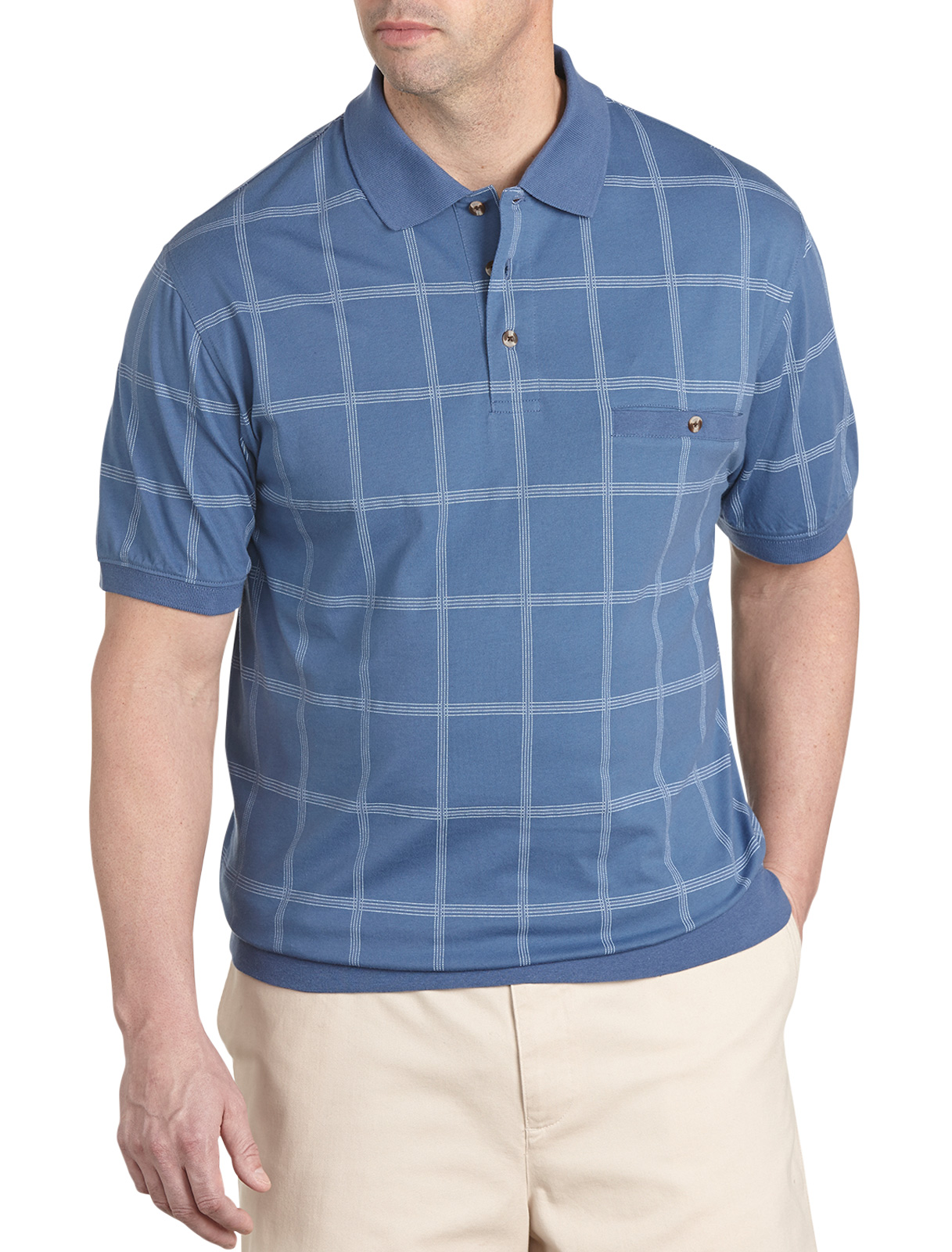 Harbor Bay Printed Square Banded-bottom Shirt