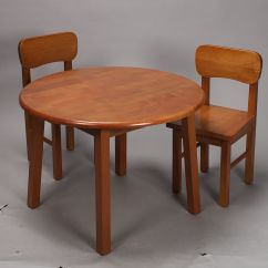 Kids Table And Chair Set Kmart Hanging Interior Gift Mark Natural Hardwood Round