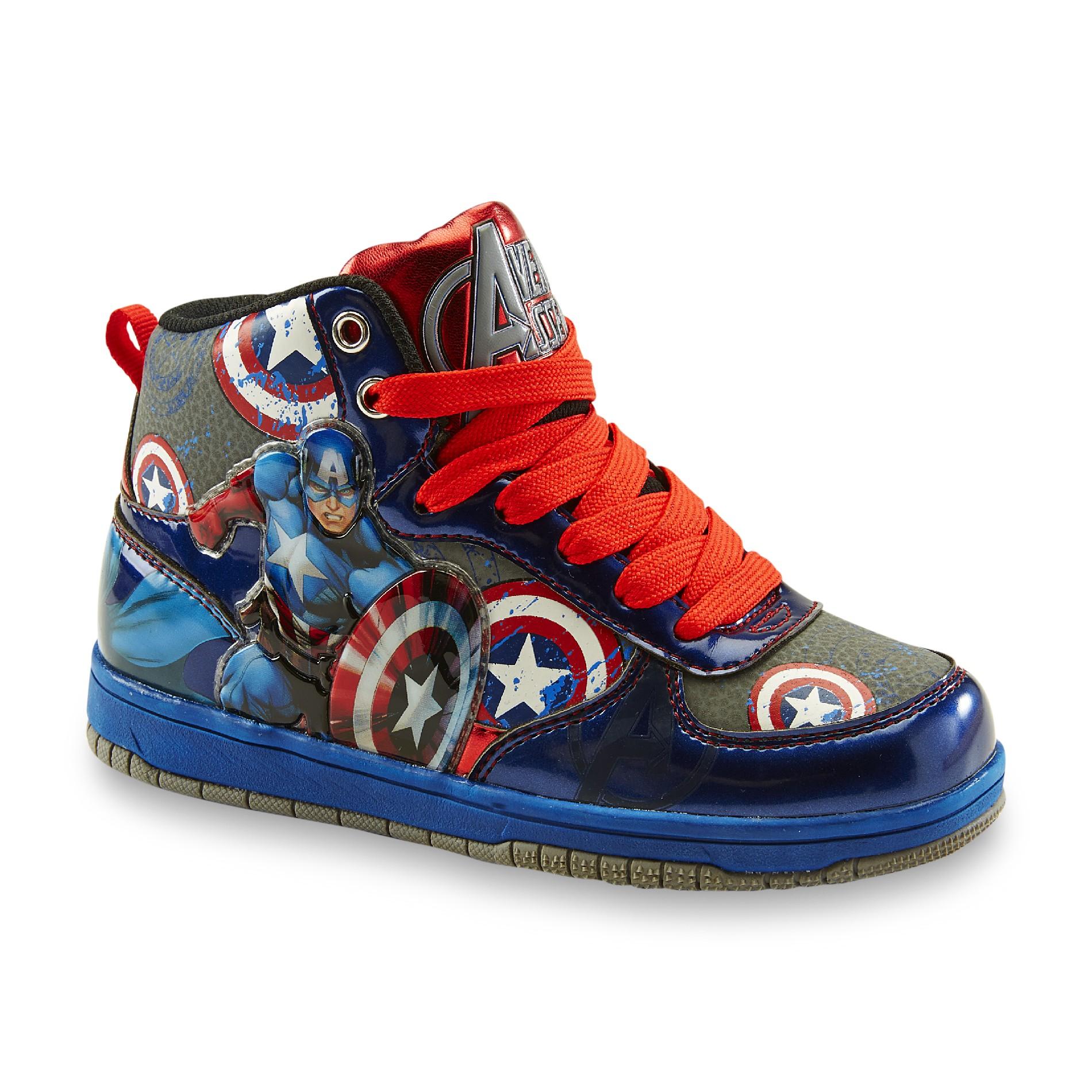 Marvel Boys Captain America RedBlue HighTop Sneaker