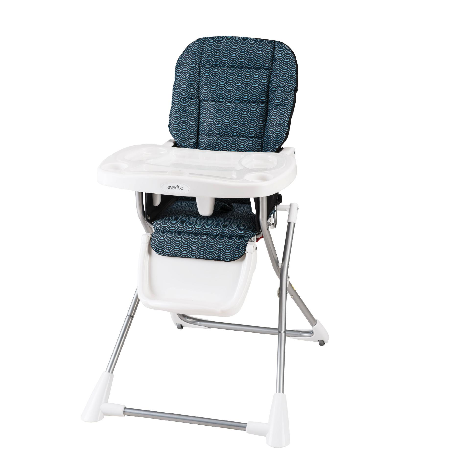 compact high chair neutral posture review evenflo fold koi baby gear