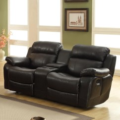 Tribecca Home Eland Black Bonded Leather Sofa Set Italia Living Sofas Oxford Creek Lyndhurst Glider Recliner Loveseat With