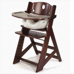 Badger Basket Doll High Chair Extra Wide Recliner Baskets 01013 White With Plate Bib