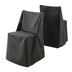 Folding Chair Slipcovers For Lower Back Pain Sure Fit Cotton Duck Dining Slipcover Black