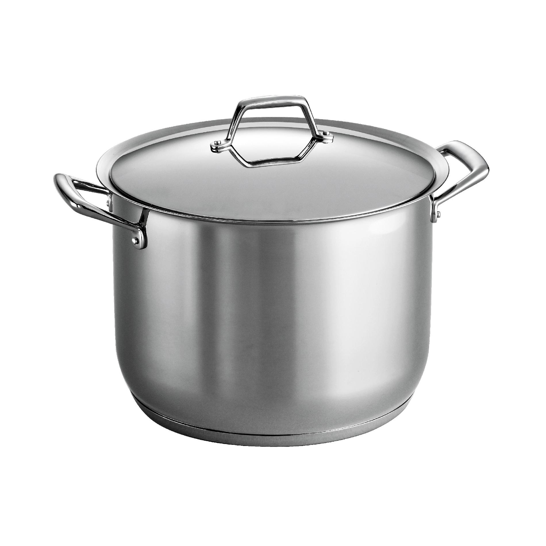 Tramontina Gourmet Prima 18 10 Stainless Steel 16 Qt Covered Stock Pot - Home Kitchen