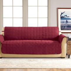 Sure Fit Soft Suede Sofa Slipcover Yellow Color Cover Waterproof Pet Throw Burgundy