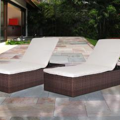 Sun Lounge Chairs Kmart Office Chair Neck Support Attachment Atlantic Wellington Synthetic Wicker 2 Piece Patio Lounger