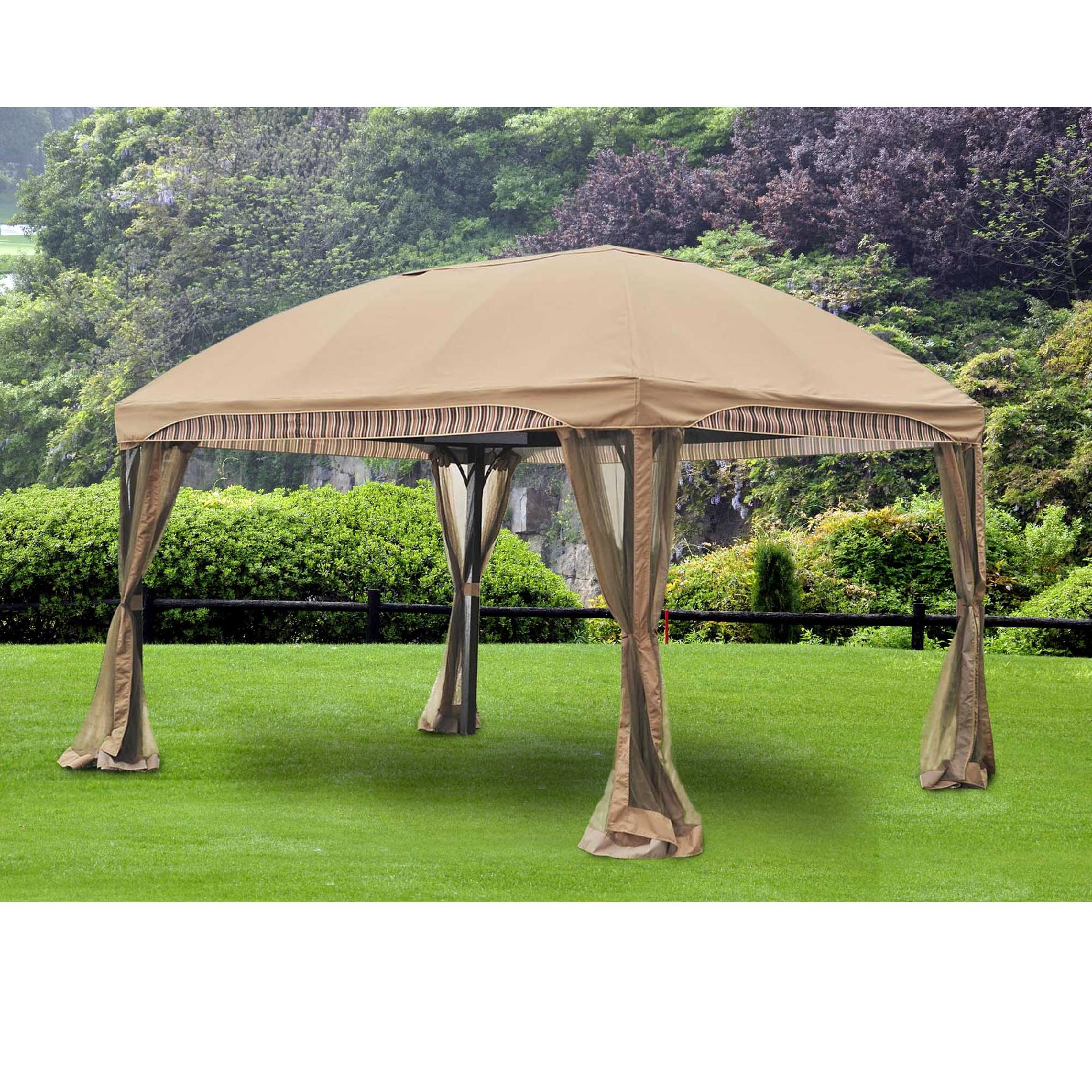 Sunjoy Breeze Domed Top Gazebo 10' X 13' - Outdoor Living Gazebos Canopies & Pergolas