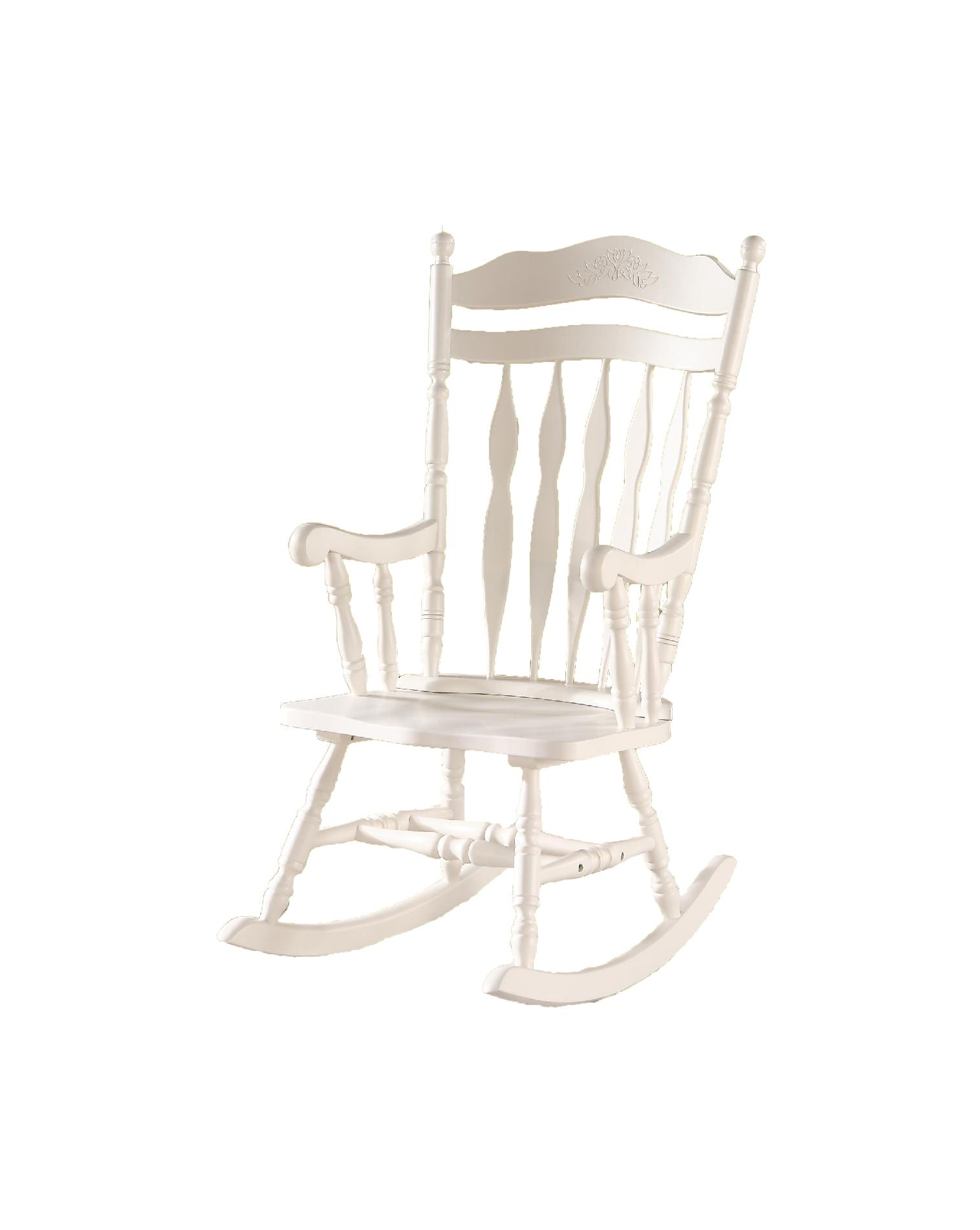 white wood rocking chair folding kinematic diagram monarch specialties 44 quoth antique