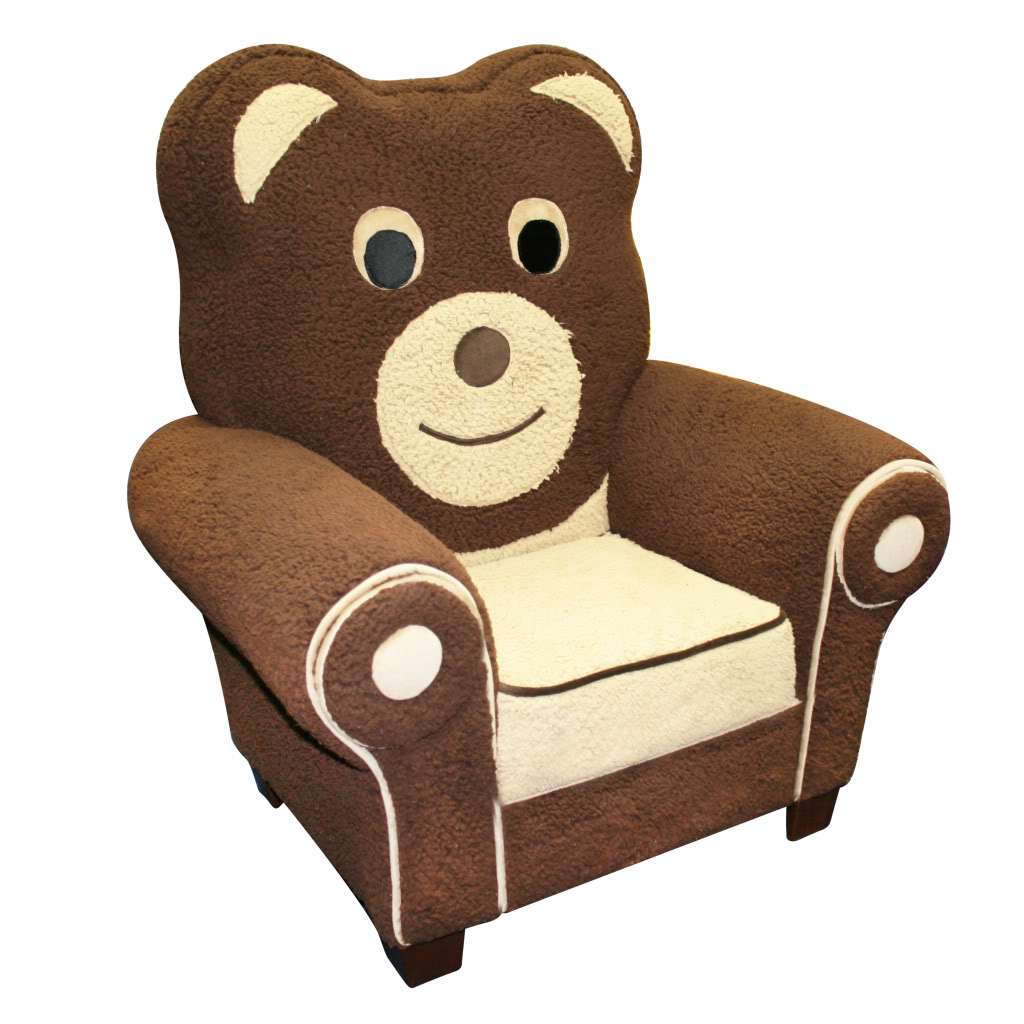 Fuzzy Chairs Magical Harmony Kids Fuzzy Bear Chair Baby Toddler