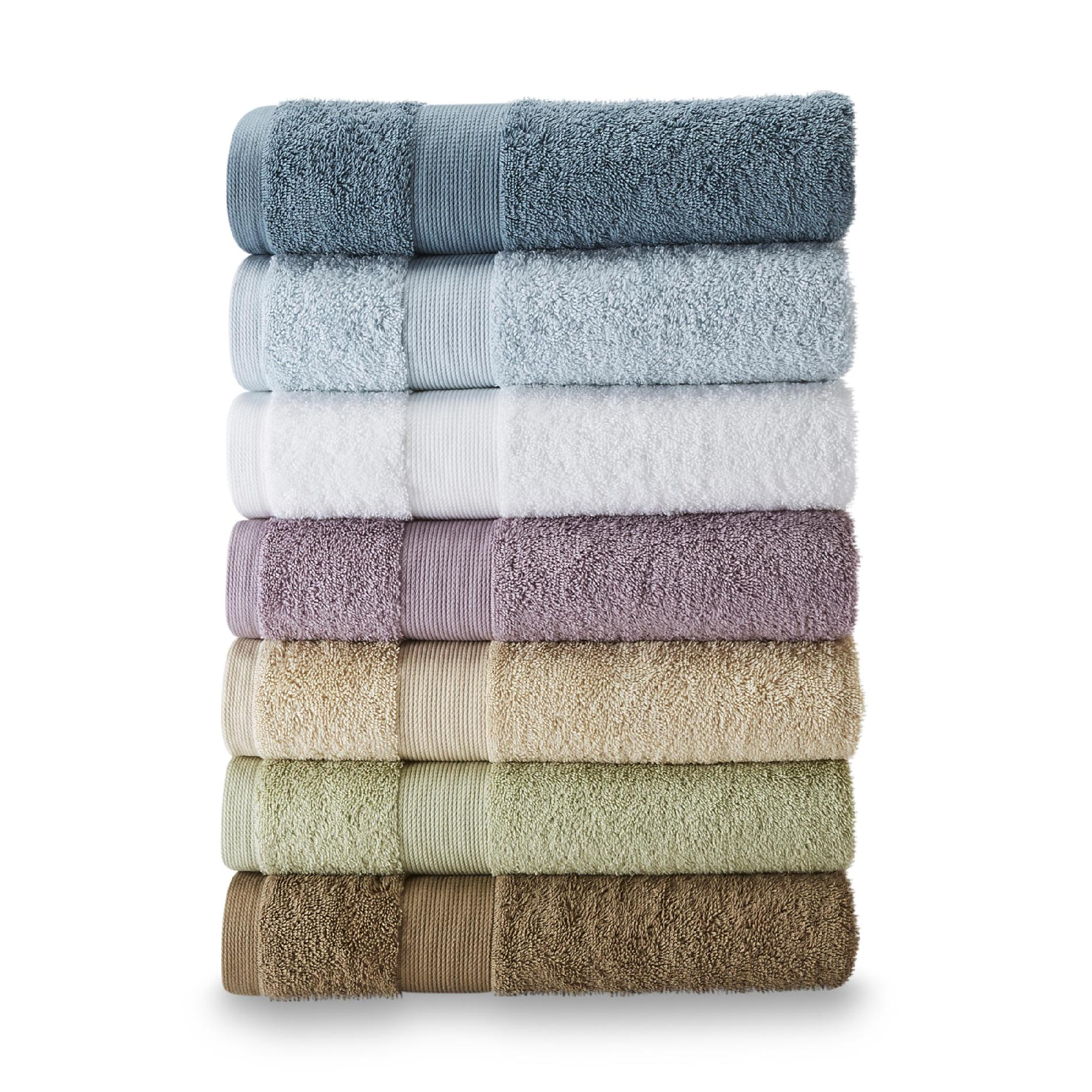 Jaclyn Smith Cotton Bath Towels Hand Washcloths In Multiple Colors