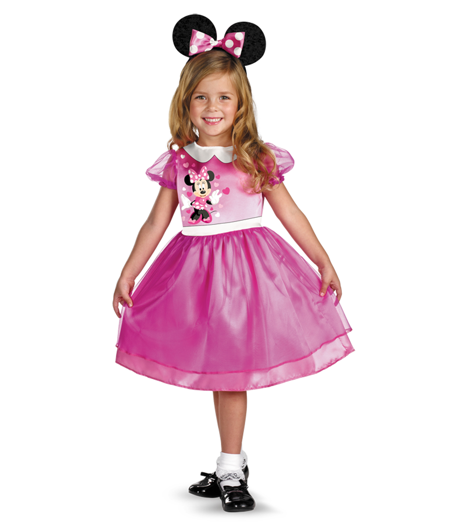 Infant Toddler Pink Minnie Mouse Halloween Costume Size 3t-4t