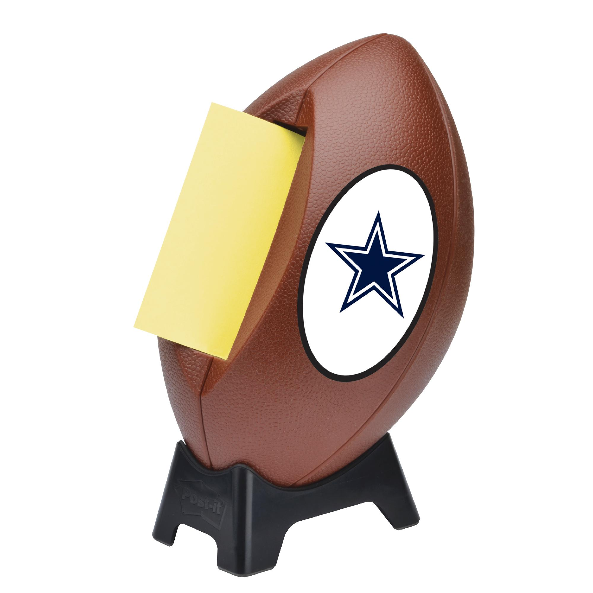 cowboys football helmet chair dining table with bench and chairs 3m nfl dallas post it pop up notes dispenser