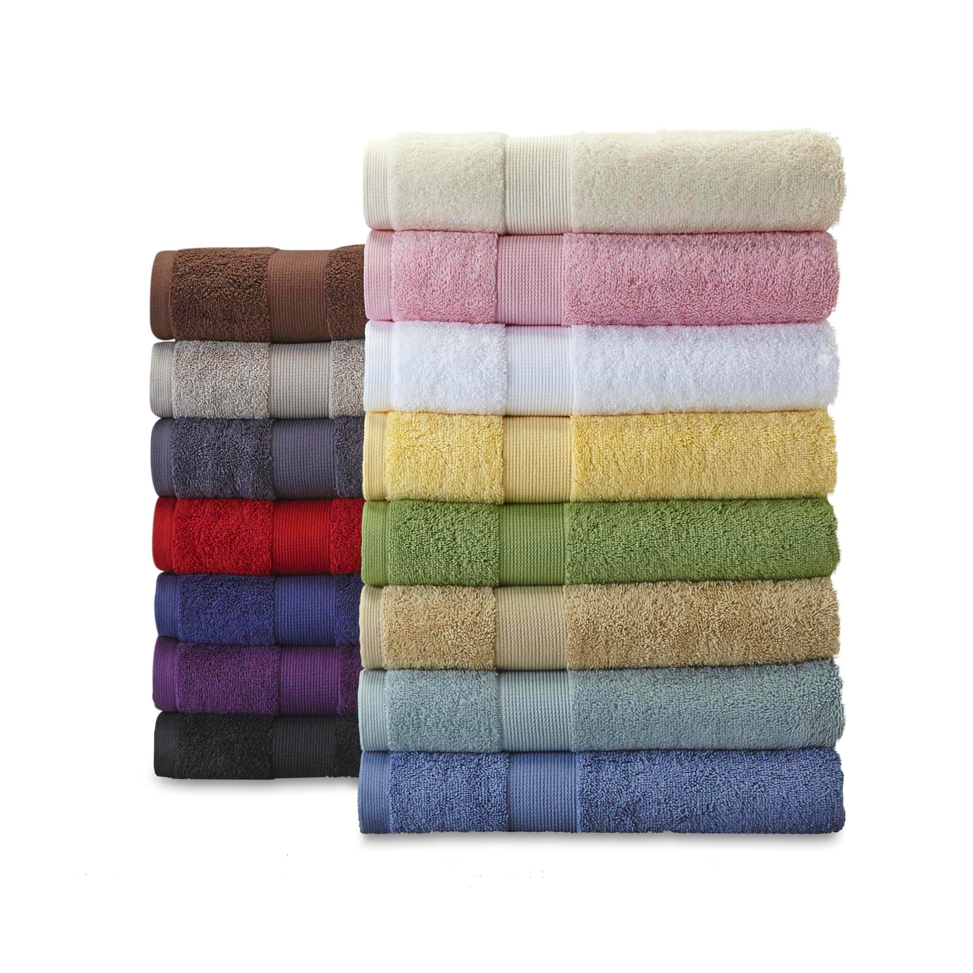 Cannon Bleach Friendly Cotton Bath Towels Hand Washcloths