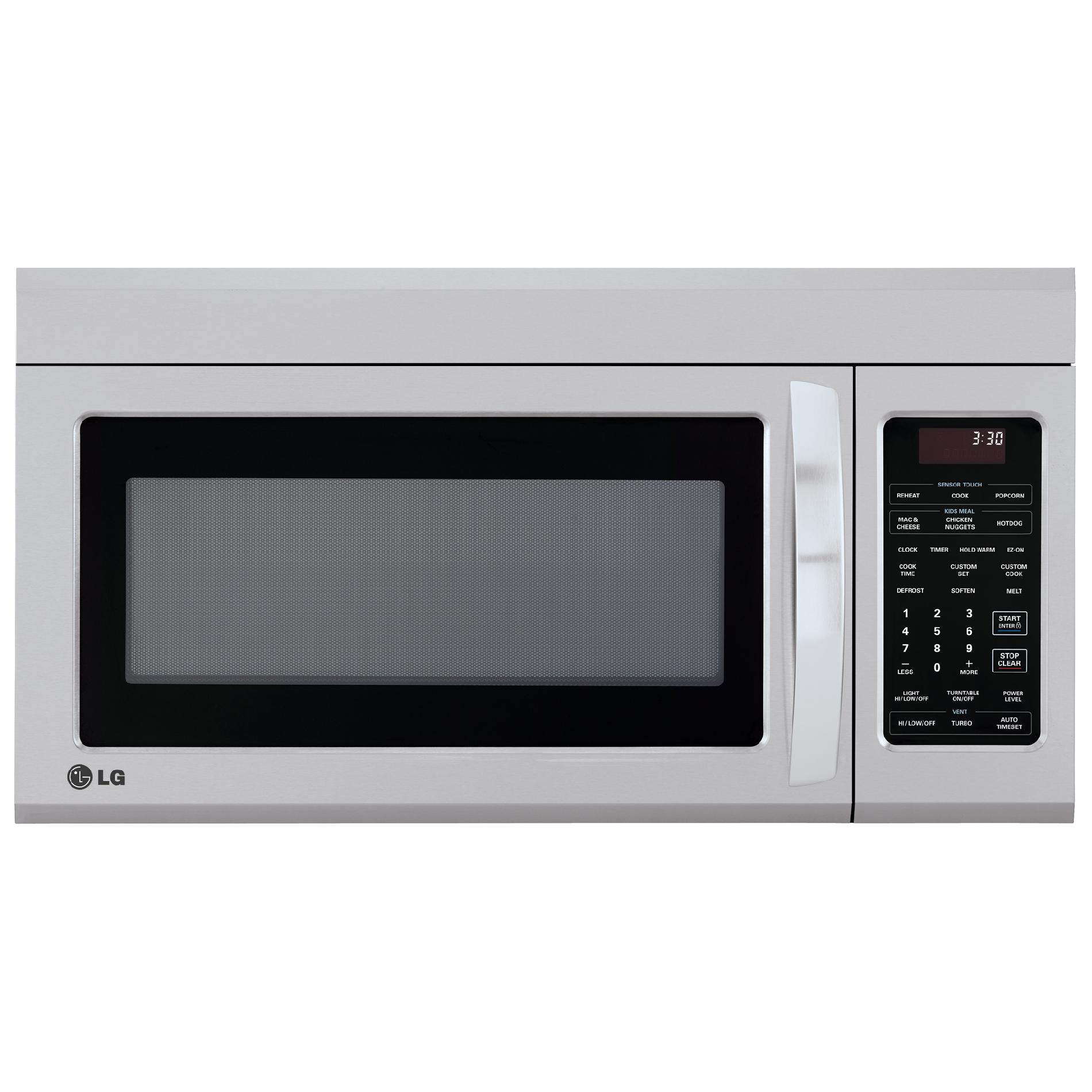 Lg Lmv1831st 1.8 Cu.ft. Over-range Microwave Oven With Easyclean - Stainless Steel