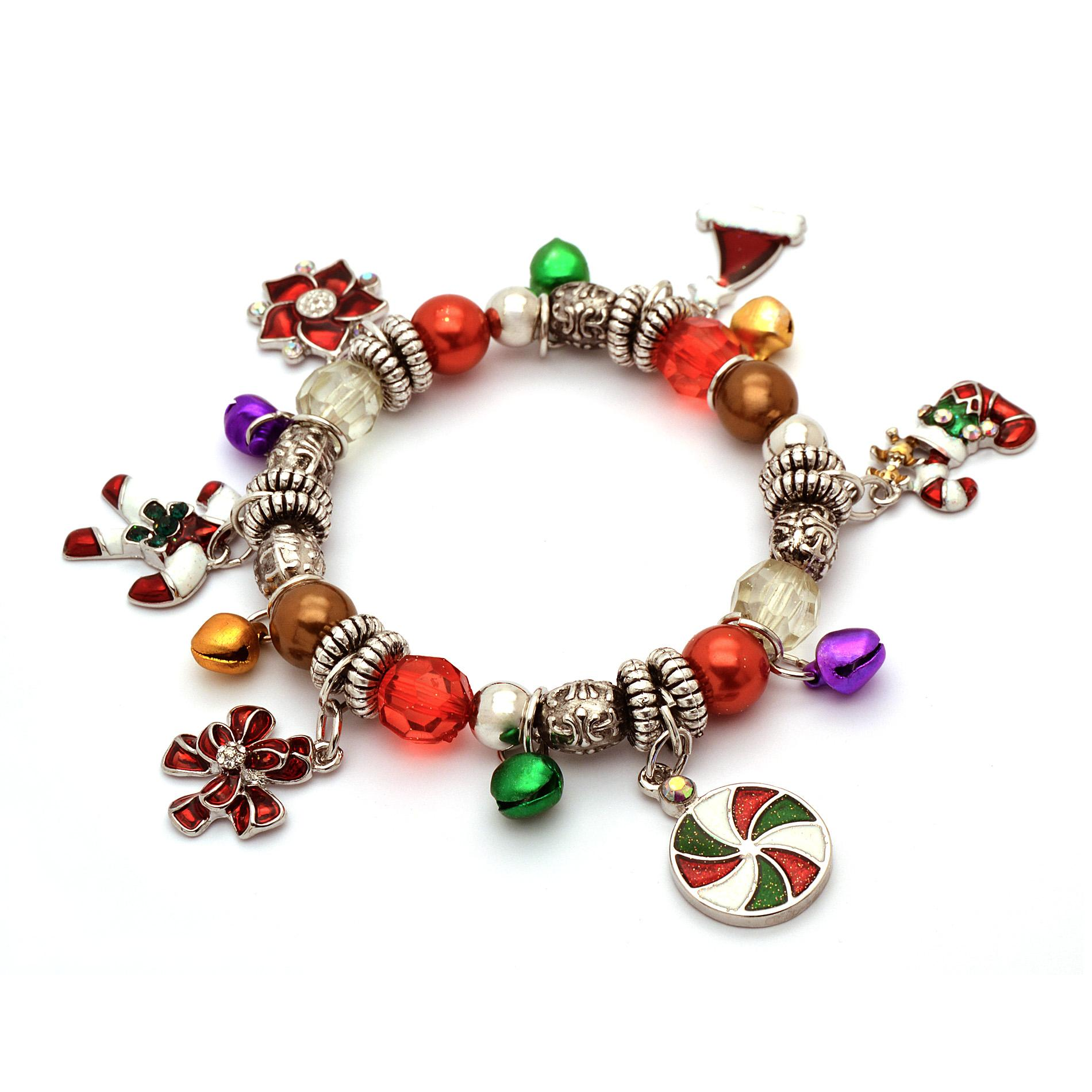 Holiday Editions Women39s Holiday Charm Stretch Bracelet