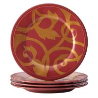 Rachael Ray Dinnerware Gold Scroll 4-Piece Round Appetizer ...