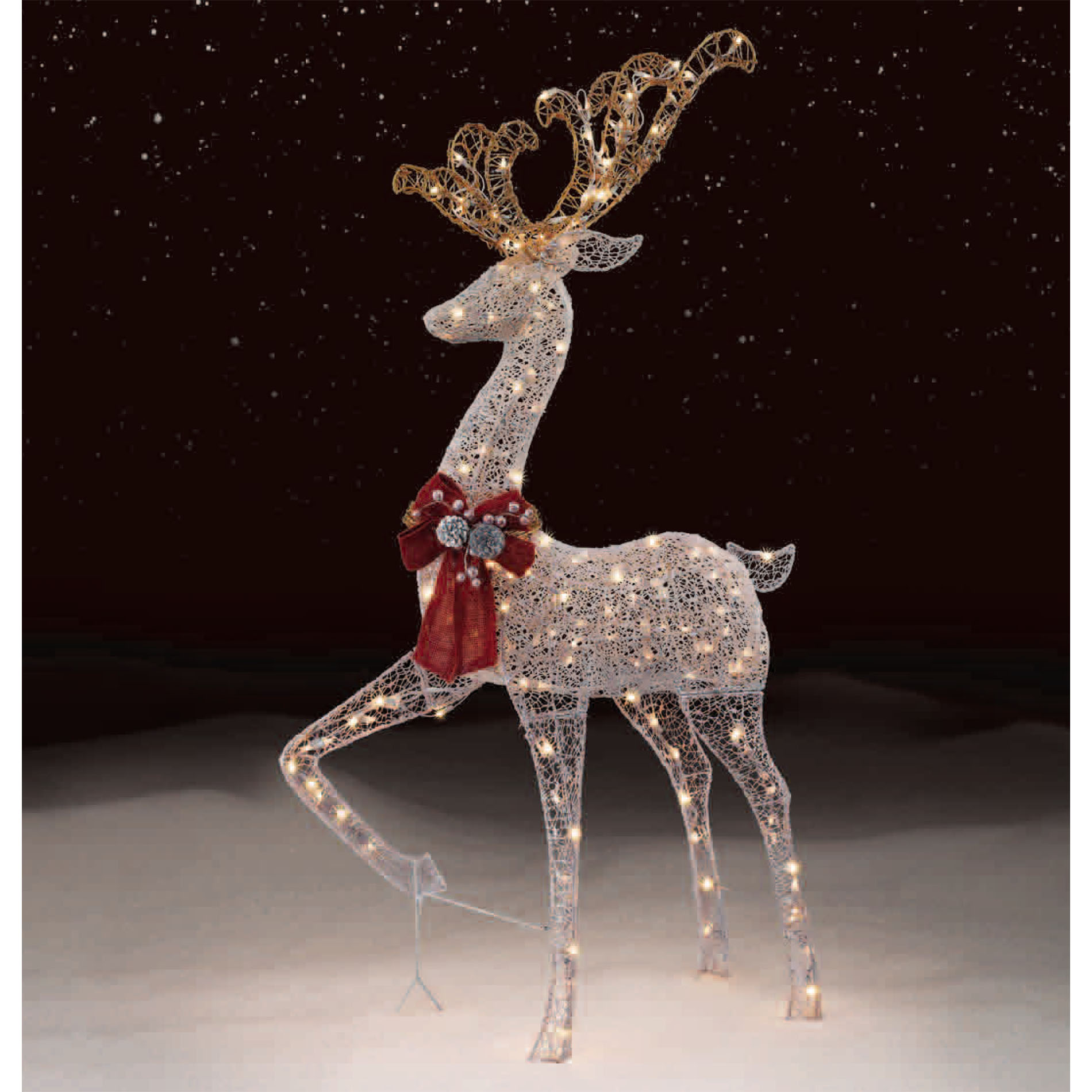 outdoor reindeer decorations outdoor lighted deer christmas decorations