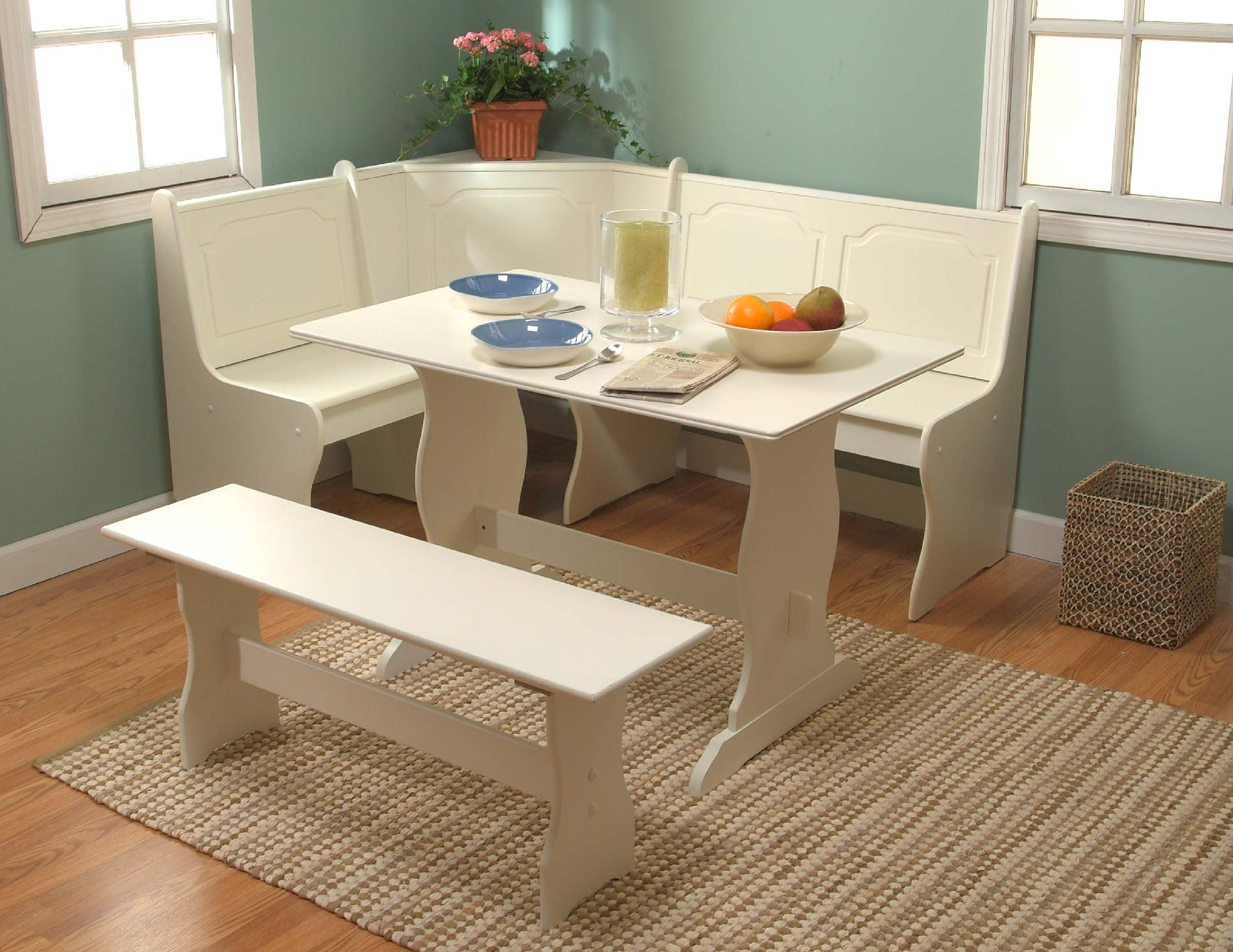 kitchen nook table wayfair chairs breakfast set target marketing systems 3 piece dining with a l shaped storage bench