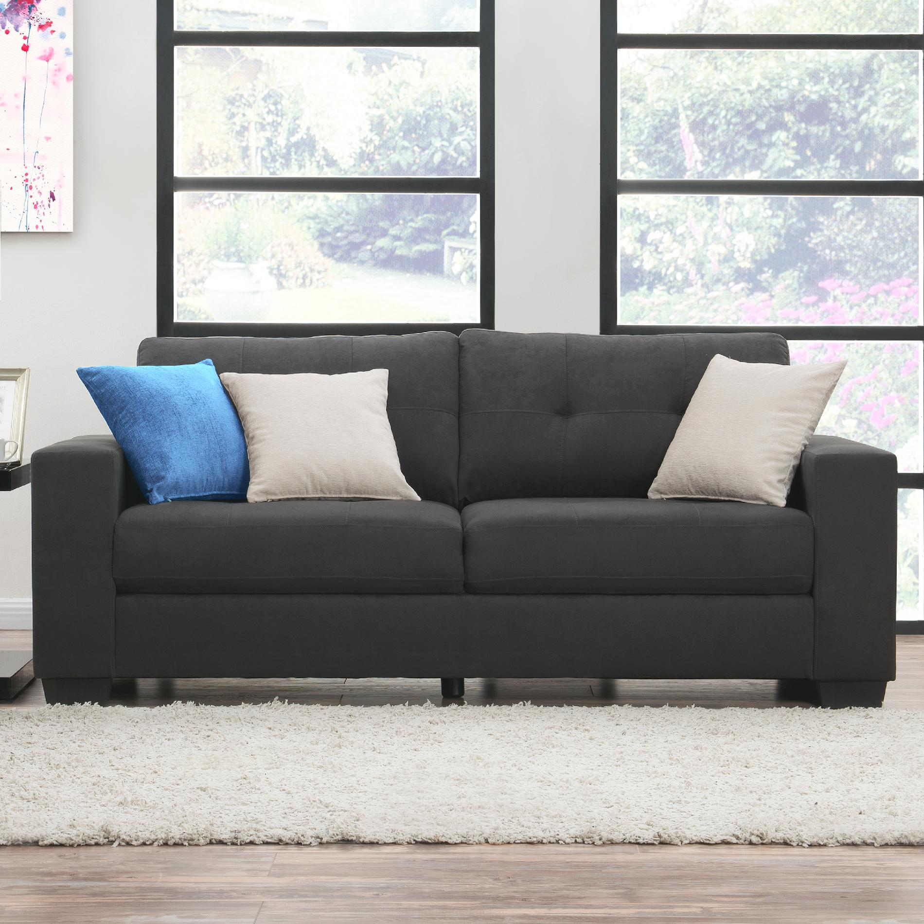 gray microfiber sectional sofas repair sofa cushion puchong dorel home furnishings asher sears